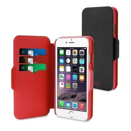 Чехол PURO iPhone 5/5S черно-красный mirror surface rhonestone protective plastic case for iphone 5 5s