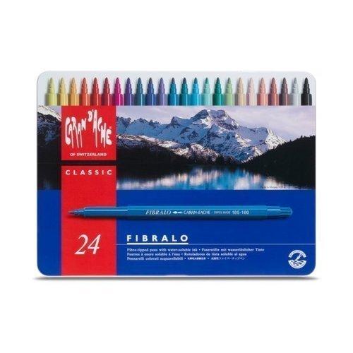 Набор цветных фломастеров Fibralo, 24 цветов набор цветных фломастеров fibralo акварель 30 цветов