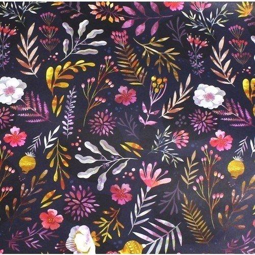 Упаковочная бумага Dark Flowers