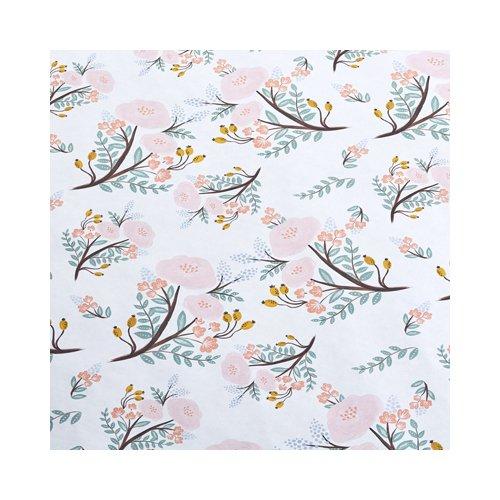 """Упаковочная бумага """"Нежные цветы"""" 1070273, 70 х 100 см коробка упаковочная под вазу 28 5х11 5х13см"""