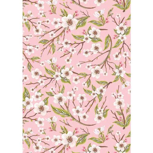"""Упаковочная бумага """"Яблоневые цветы"""" 1070274, 70 х 100 см коробка упаковочная под вазу 28 5х11 5х13см"""