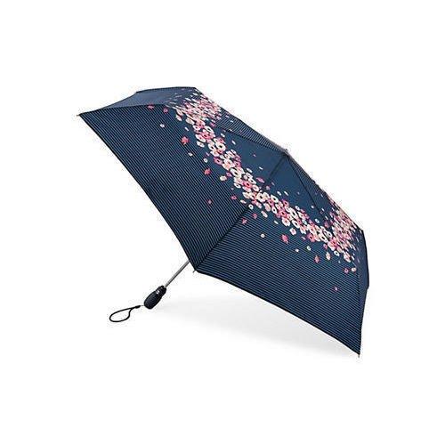 Зонт женский Цветы на полосках тарелки с большим куполом 31cm