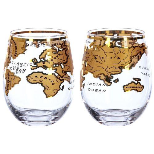 Набор бокалов Mixology Vintage Globe Glass Gold, 2 шт. цена