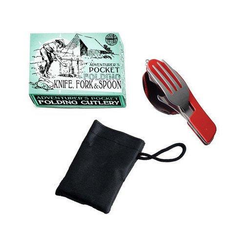 Набор для кэмпинга набор туриста 3в1 ложка вилка нож world rider wr 5004
