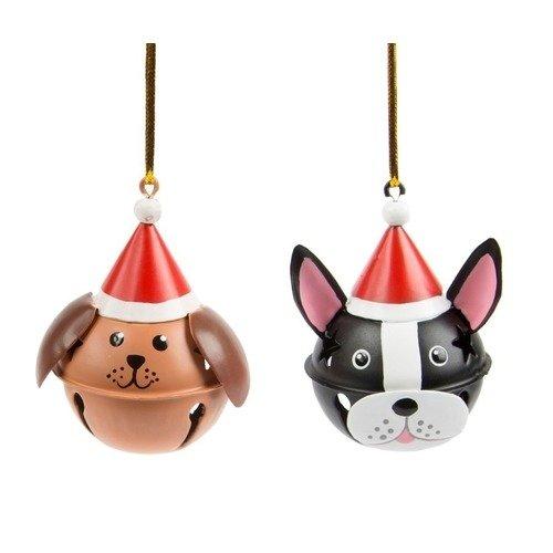 Новогодняя игрушка Dog in Christmas Hat Bell