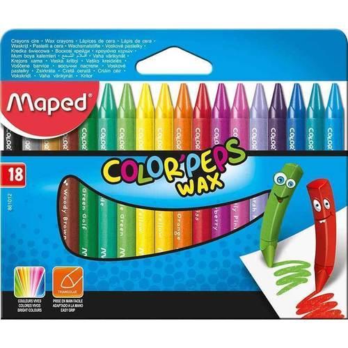 Мелки восковые Color'peps Wax карандаши восковые мелки пастель maped карандаши color peps 12 цветов в тубусе подставке