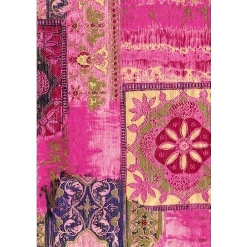 Бумага для декопатча Орнамент на розовом черная речка бумага для техники decopatch 30 40 горошек клетка коричн