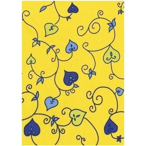 """Бумага для декопатча """"Листочки на желтом"""""""