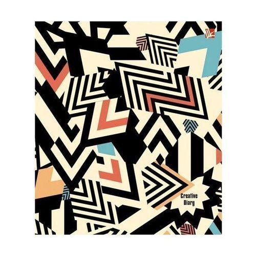 Творческий ежедневник Абстрактный узор А5, 128 листов ежедневник недатированный listoff орнамент павлиний окрас а5 128 листов