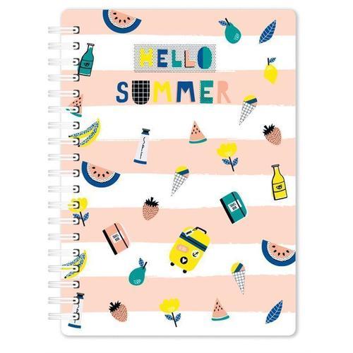 Фото - Блокнот Summer А6, 60 листов, в клетку канцелярия lejoys блокнот sustainable в клетку с хлопковой обложкой а6 120 листов