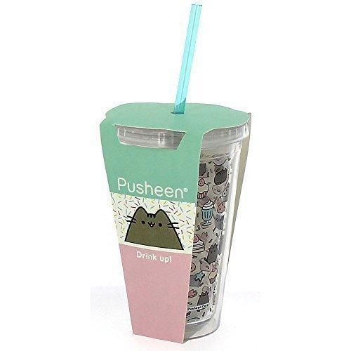 Пластиковый стакан Pusheen Beaker with Straw contigo детский стакан для воды floating straw tumbler с трубочкой цвет голубой 470 мл