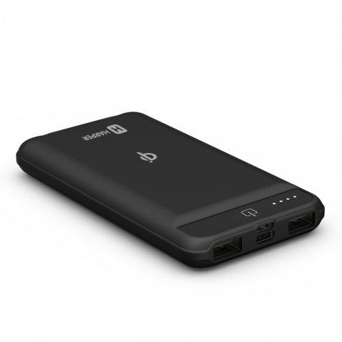 Внешний аккумулятор WPB-008 black, 8000 мАч внешний аккумулятор power bank 8000 мач harper wpb 008 черный