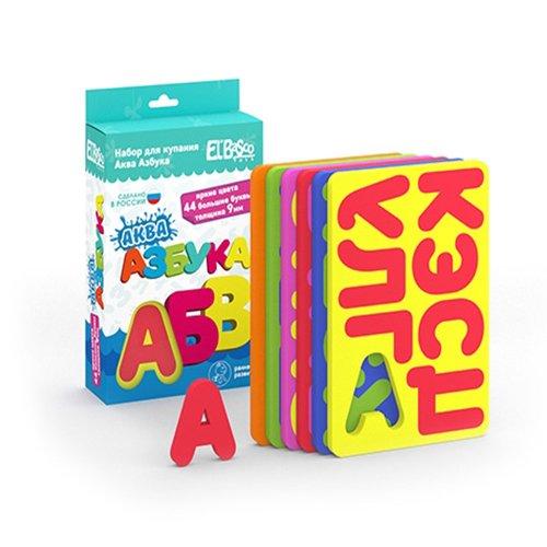 Купить Набор игрушек-пазлов для купания Аква Азбука , El Basco, Игрушки для ванной