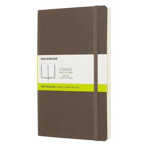 """Блокнот нелинованный """"Classic Soft Large """", 192 листа, 13 х 21 см, коричневый"""