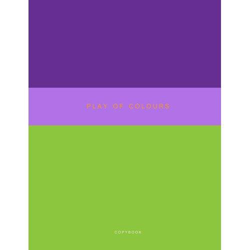 Тетрадь для конспектов Неоновый дуэт. Зеленый и фиолетовый А4, 48 листов, в клетку музыкальный сувенир нотная тетрадь ноты рахманинов а4 16 листов цвет обложки черный
