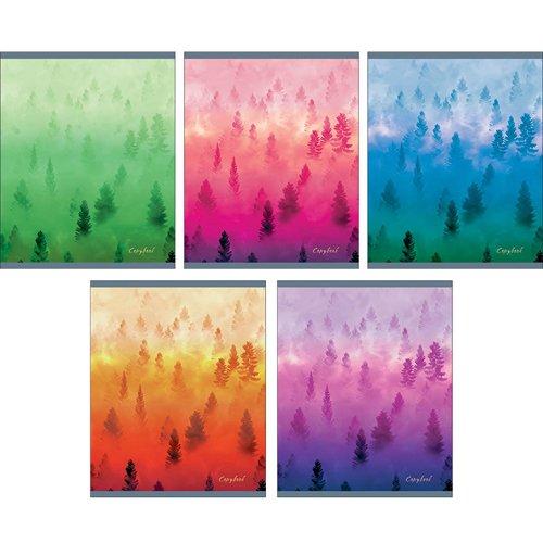 Тетрадь Туманный лес А5, 96 листов, в клетку тетрадь а5 96 л brauberg эко клетка обложка картон тетрадь 401290