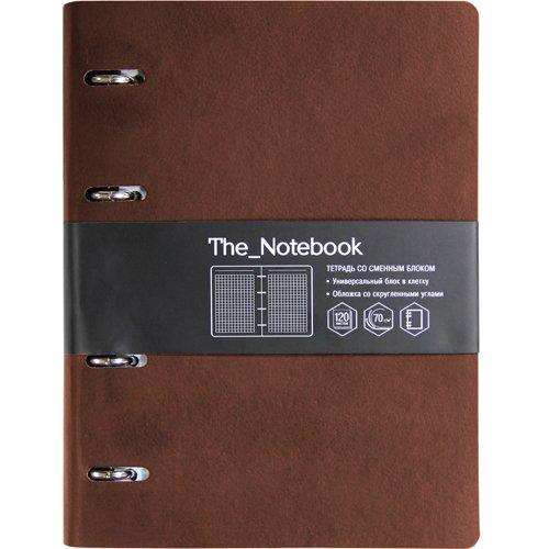 """Тетрадь """"The Notebook"""" А5, 120 листов, коричневая тетрадь со сменным блоком 1 school а5 80 листов 165x215mm 323134"""