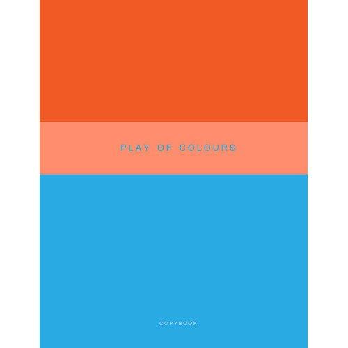 Тетрадь для конспектов Неоновый дуэт. Голубой и оранжевый А4, 48 листов, в клетку музыкальный сувенир нотная тетрадь ноты рахманинов а4 16 листов цвет обложки черный