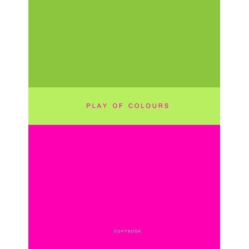 Тетрадь для конспектов Неоновый дуэт. Розовый и зеленый А4, 48 листов, в клетку музыкальный сувенир нотная тетрадь ноты рахманинов а4 16 листов цвет обложки черный