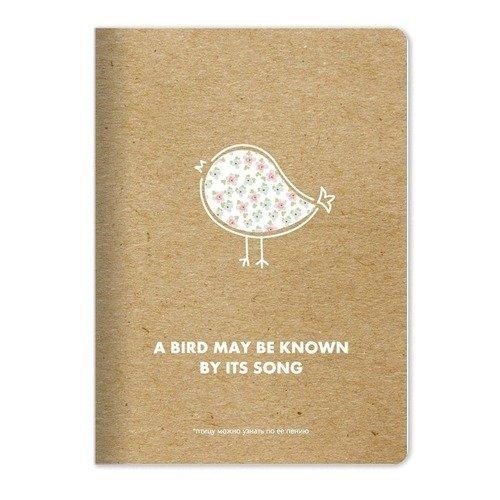 """Тетрадь """"Bird"""", 48 листов, в клетку, 15 х 21 см marker тетрадь дрова 100 листов в клетку цвет коричневый"""