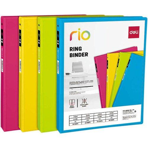 """Папка на 2-х D-кольцах """"Rio EB10100"""" A4, в ассортименте"""