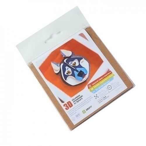 Фото - Объемная аппликация из бумаги Хаски 3D саломатина е ред объемная аппликация цыплята