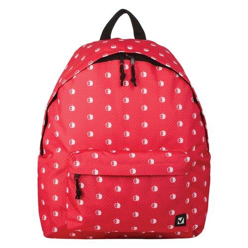 Городской рюкзак Яблоки, 23 л, 43 х 34 х 15 cм, красный рюкзак городской нейлон power in eavas 9065 blue в киеве