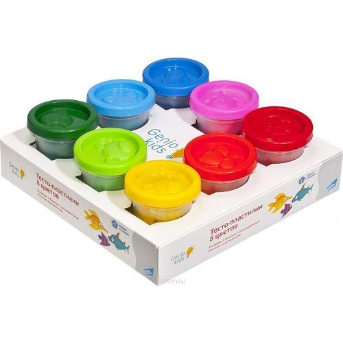 Набор для детской лепки «Тесто-пластилин», 8 цветов
