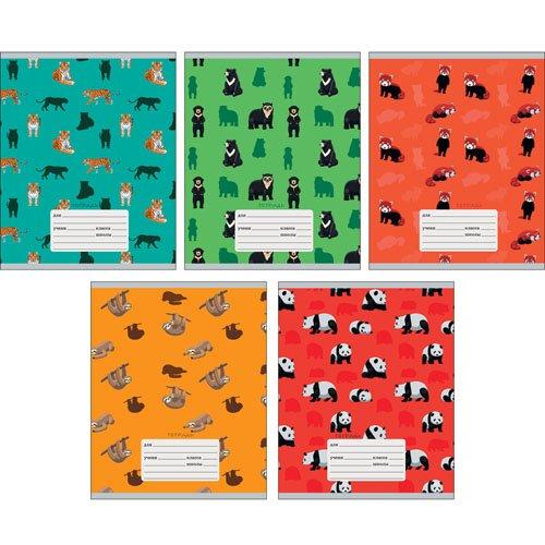 Тетрадь Милый зоопарк А5, 18 листов в линейку, в ассортименте еж стайл тетрадь a little sleep любовь в линейку 38 листов