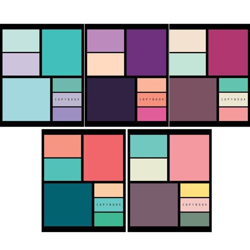Тетрадь Геометрия цвета А5, 48 листов в клетку, в ассортименте тетрадь в клетку геометрия а5