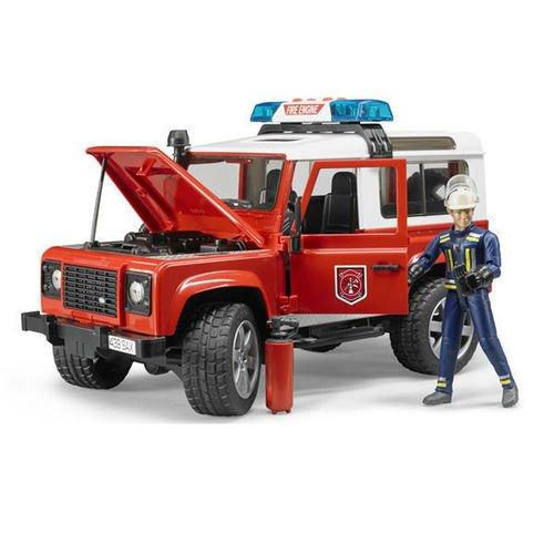 Пожарный внедорожник с фигуркой Land Rover Defender машины rmz city металлическая модель м1 64 land rover defender 344010