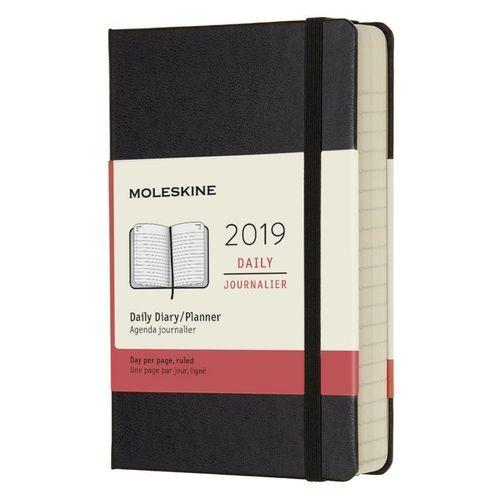 Ежедневник Classic Pocket, 90 x 140 мм, 400 страниц, черный цена