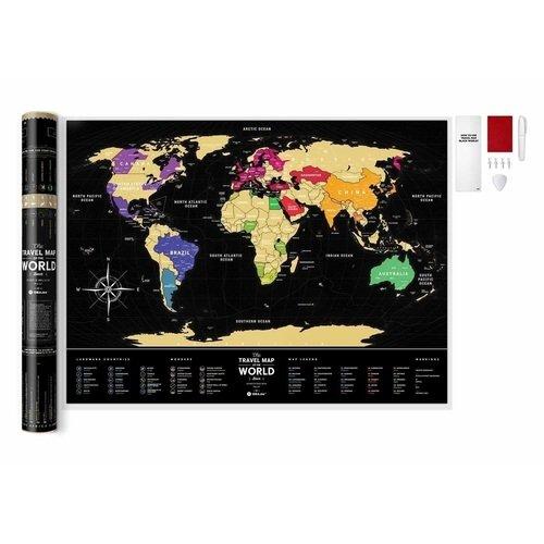Скретч-карта мира Travel Map Black World карта c map rs n235 волго донский канал и азовское море