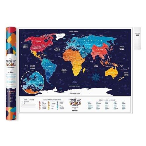 "Скретч-карта мира Travel Map ""Holiday World"""