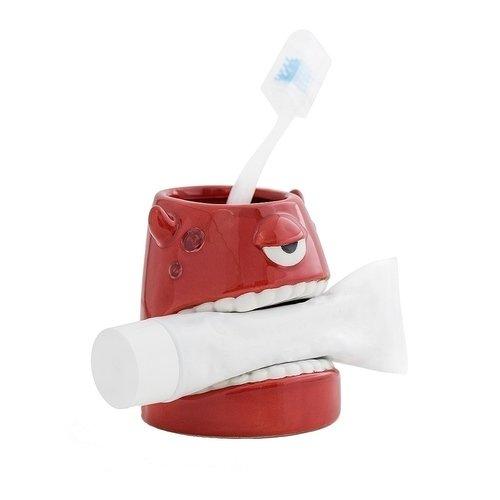 """цена на Стакан для зубной пасты и щеток """"Monster"""", красный"""