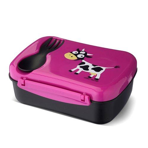 """Ланч-бокс детский с охлаждающим элементом """"N'ice Box™ Cow"""", фиолетовый"""
