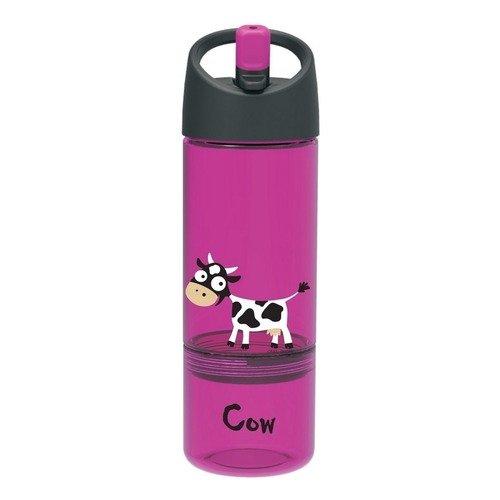 """Детская бутылка 2 в 1 """"Carl Oscar Cow"""", фиолетовая"""