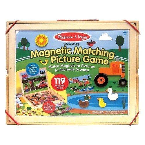 Купить Набор магнитов с фоном Магнитные игры , Melissa & Doug, Развлекательные и развивающие игрушки
