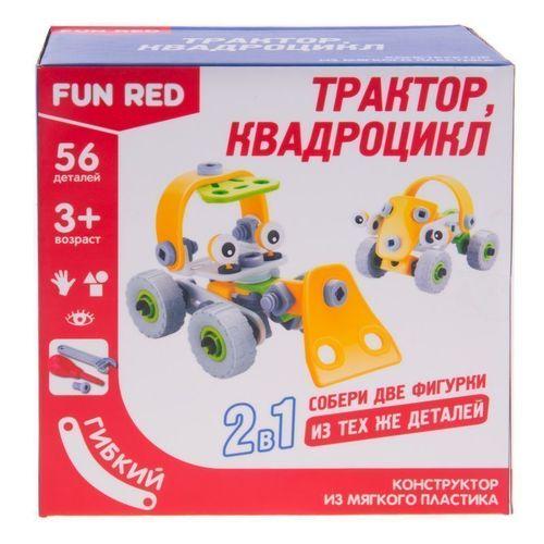 Гибкий конструктор Транспорт 2 в 1, 56 деталей брикник конструктор брикник крепость 119 деталей 2 в 1 205