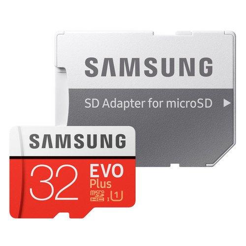 Карта памяти MicroSDHC class10 UHS-I SAMSUNG EVO+ с адаптером, 32GB, (скорость чтения 95MB/s, запись 20MB/s), MB-MC32GA/RU