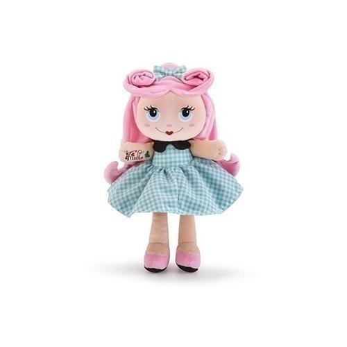 Мягкая кукла с розовыми волосами, 28 см