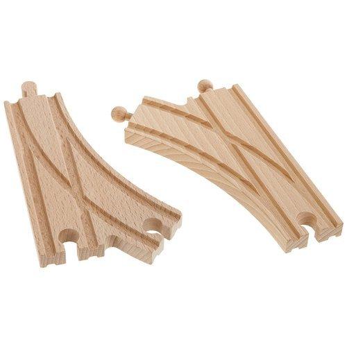 Купить Раздваивающиеся полотна для деревянной железной дороги, 14, 5 см, 2 шт., Eichhorn, Игровые наборы