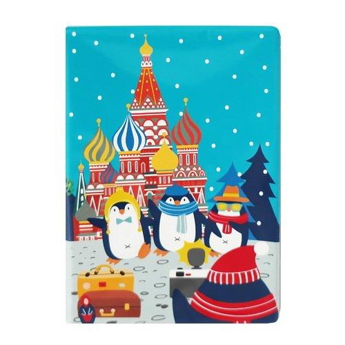 """Обложка для паспорта """"Пингвины"""""""
