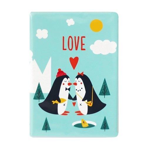 """Обложка для паспорта """"Пингвины Love"""""""