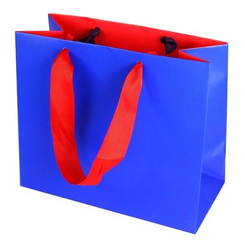 Подарочный пакет Однотонный 1 А5, синий