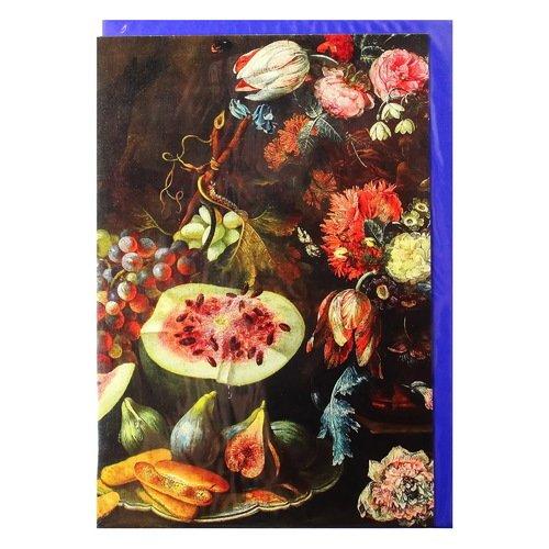 """Открытка поздравительная с конвертом """"Цветы и плоды"""" цены"""