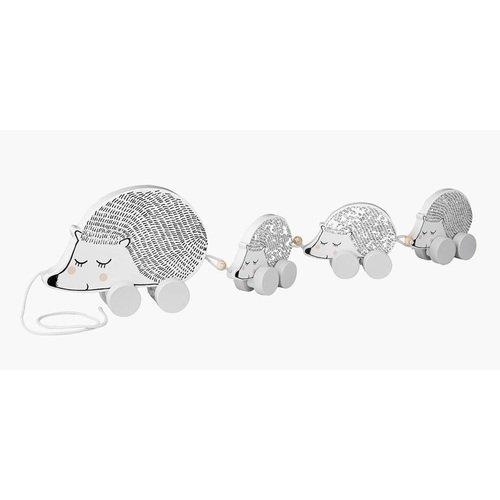 Игрушка на веревочке Hedgehog, черно-белая sima land каталка на веревочке тобик