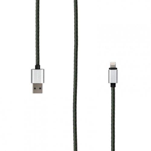 Фото - Кабель Rombica Digital IL-01 USB - Lightning (MFI), 1 м, темно-зеленый кабель для apple lightning mfi rombica digital il 02 1м оплетка под кожу серый
