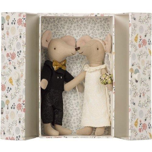 """Мягкая игрушка """"Мыши жених и невеста"""", 15,5 см"""