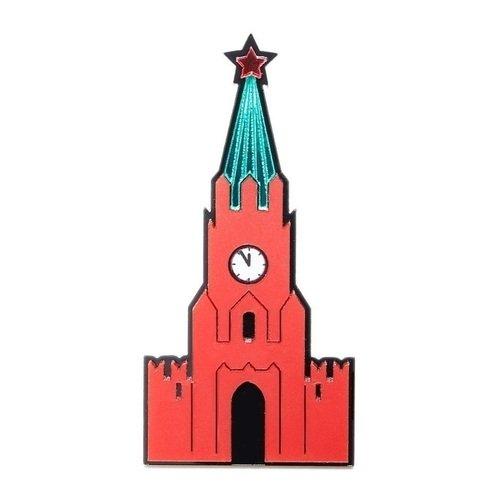 Брошь металлическая Спасская башня брошь спасская башня